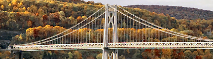 Mid-Hudson Bridge, Poughkeepsie, NY,   Photography by Pamela S. Martin